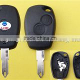 Keyless Entry Remote Key Case replacement for 2 Button Renault Megane Car Key Blank Fob with 206 blade