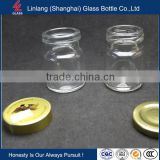 Import screw cap 50ml 45ml 35ml 30ml 25ml 20ml 15ml for Malaysia storage honey jar 75ml bird nest glass bottle