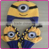 Crochet baby animal winter hat wholesale winter hats and gloves