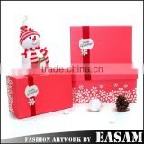 Wholesale gift box snowflake small square shape decorative christmas gift boxes