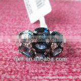 Hot Sale Fashion Design 925 Sterling Silver Natural Blue Sapphire Ring