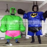 customized super hero inflatable sports games/ sumo suits sumo wrestling for adults