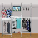 huohua no need to open any hole on the wall telescopic 2-3.5m ceiling clothes dryer rack