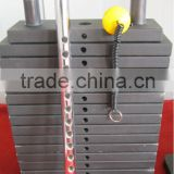 steel painted weight stacks/rubber coated weight stacks/cement weight stacks gym/lifting bar
