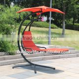China manufacturing luxury outdoor hanging chair, promotional hanging chair with cushion