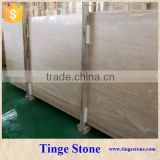 Polished Vein Cut Beige Travertine Slab