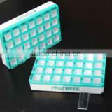 Newly clear plastic 7 days pill case /medication plastic pill boxes/weekly cute pill box