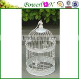 Antique white Metal Outdoor Set Of 2/S Round Wrough Iron Bird Cage For Wedding Decoration PL08-5845