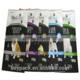 Pet dog food flat bottom side gusset packaging bag pet dog food bag with resealable zipper