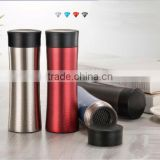 2015 new 320ml diamond thermos with rugged surface, portable thermos bottles with tea filter, thermos flask
