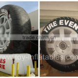 inflatable advertisement, inflatable advertising, inflatable tire advertising