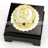 pure Gold Mooncake The Luxurious Gift with Chinses lucky Word Fu and Acrylic Display Box