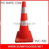 PVC orange used plastic barrier and traffic cone for rental