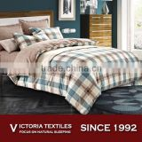 Full Size Comforter Cover Sheet Sets Green Brown Plaid Tartan Plaid Bed in a Bag Bedding