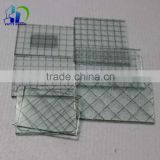 Colorful wired glass wired patterned glass for skylight canopy building outer wall