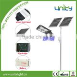Best Price List 80W Solar Power LED Street Light With Lithium Battery Panels and Controller
