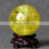 Wholesale nature crystal citrine sphere/ball for home decoration