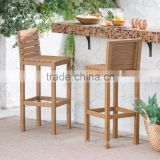 PAIR OF CHAIRS- ACACIA WOOD BAR STOOL -WOODEN CHAIR