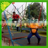 Direct manufacturer manual type and electric type single bungee jumping trampoline for sale