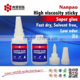 1500cps high viscosity super glue cyanoacrylate instant adhesive for mdf kit in 20g