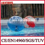 High quality zorbing ball, inflatable human hamster ball, clear human ball for water park