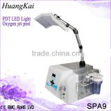 Led Facial Light Therapy Advanced Beauty Equipment PDT LED With Anti-aging Water Oxygen Jet Peel For Skin Rejuvenation