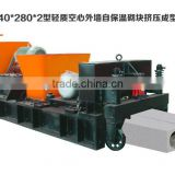 HQJ 240*280*2 heat preservation building blocks for outer wall making machine