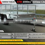 NEW 8x5 Tandem Box Trailer 900MM CAGE Fully Welded GALVANISED ATM 2000kg FOR SALE