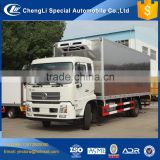 Hot sale dongfeng 10 ton 12ton cold plate freezer fish transport van trucks for sale