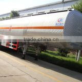 factory supply good quality tri-axle aluminum 50000 liters fuel tank semi trailer