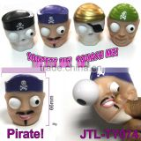 Vinyl Pirates Squeeze Toy With Pop Out Eyes