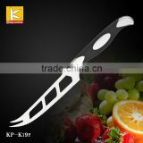 "Germany steel 1.4116 winding 5""cheese knife with G10 handle black /red"