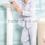 Spring/ Summer Women's Tops and Long Pyjamas Bottoms Home Clothes Set Men Cotton Pajama