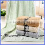 wholesale stock bamboo fiber ribbed bamboo towel sets