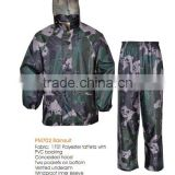 170T poly/pvc rainsuit