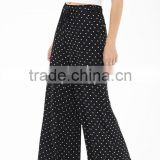 Hot selling polka dot women Fashion palazzo pants, Custom chiffon Printed palazzo pants Fashion for women