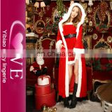 In Stock Women Dress Xmas Sexy Adult Santa Claus Robe Costume