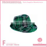 Green Plaid Fedora Party Hat
