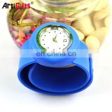 Promotional waterproof silicone slap band watch