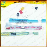 concert fundraiser woven cloth movement wristband