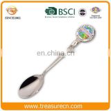Wholesale cheap rose gold plated and metal crafts type custom enamel die cast souvenir spoon