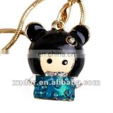 METAL JAPAN GIRL MOBILE PHONE STRAP/CHARM CELL PHONE ACCESSORIES