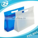 Custom Zipper Closure Die-cut Handle Cosmetic PVC Bag