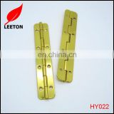 High quality shiny gold long box butt hinge for wooden box