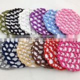 New Bun Cover Snood Crystal Hair Net
