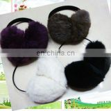 real rabbit fur muff,ear muff,earmuff
