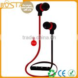 Promotional fancy comfortable wholesale flat cable stereo best selling bluetooth earphones