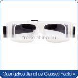 Factory wholesale white PC basketball dribble goggles anti scratches highly clarity of vision lens soccer glasses