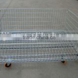 foldable mesh box pallets with castors