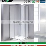 durable design tempered safety glass square hinge sliding shower enclosure/cabin/room MV-A1008F